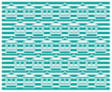 Stock Illustration of green home pattern