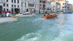 Water Trip on the Grand Canal (Canale Grande) - stock footage