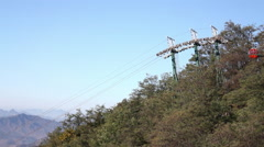 Mountain cable cars, China Stock Footage