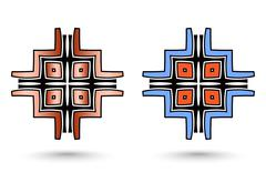 two abstract inca cross - stock illustration
