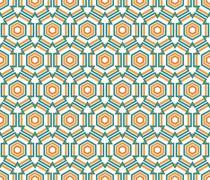 Stock Illustration of hexagon linear pattern