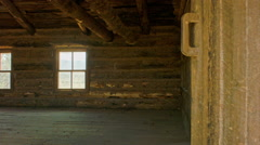 Inside of a Log Cabin Stock Footage