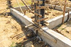 Stock Photo of foundation for house building