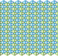 Mexican pattern green and blue color - stock illustration