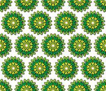 greenish yellow florets - stock illustration