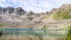 Upper Goldsee in Tirol, Austria Stock Footage
