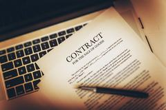 Contract For The Sale of Goods Concept Photo - stock photo