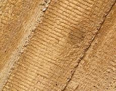 concrete imprint wood - stock photo