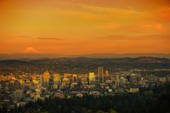 Sunset Scenery in the Portland, Oregon. Kuvituskuvat