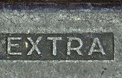 the inscription on the old iron - stock photo
