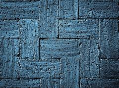 Stock Photo of gray blue burnt bricks pavement