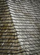 Stock Photo of slant on shingles roof