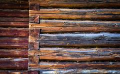 Stock Photo of wall of a old wooden house