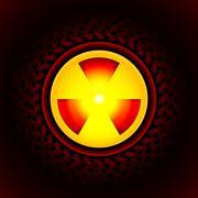 Sign of radiation Stock Illustration