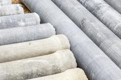 Stock Photo of asbestos pipe for construction job