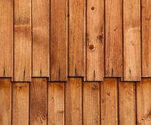 wooden paneling profile - stock photo