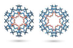 Stock Illustration of Abstract hexagonal flakes star