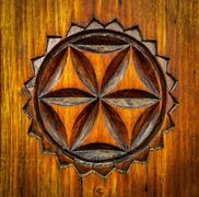 Stock Photo of carved wooden pattern