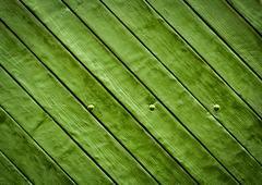 green wooden slatted board - stock photo