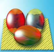 Easter still life Stock Illustration
