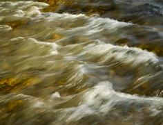 spring rapid river - stock photo