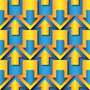 Stock Illustration of blue and orange  arrows pattern