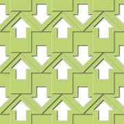 Stock Illustration of green arrows pattern