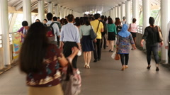 Time Lapse of Pedestrians on Walkway - Bangkok Thailand Stock Footage