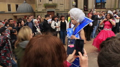 Birmingham Gay Pride - transgender and transsexual costume parade Stock Footage