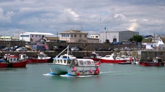 Kilmore Quay Harbour Wexford, Ireland Stock Footage