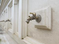 Beautiful faucet with mineral water Stock Photos
