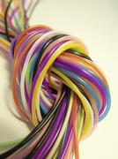 Knot of Color cords Stock Photos