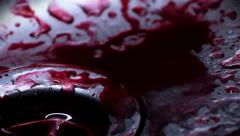 Blood drops in a sink, Colorgraded Stock Footage