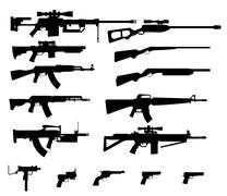 Gun set Stock Illustration