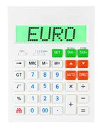 Calculator with EURO - stock photo