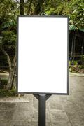 Blank billboard useful for your advertisement for commercial and promotion Kuvituskuvat