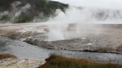 Cliff Geyser, Yellowstone National Park, Wyoming Stock Footage