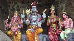 Hindu Statues Stock Footage