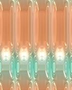 Abstract background, peach and turquoise with glowing lights and unique pattern. - stock illustration
