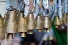 Old brass bells Stock Photos