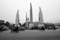 Democracy monument at Bangkok, Thailand - stock photo