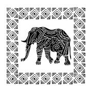 Vector illustration of a tribal totem animal - stock illustration