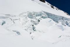 Glacier cracks. Stock Photos
