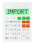 Calculator with Import Stock Photos