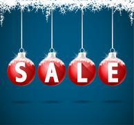 Winter Sale Stock Illustration