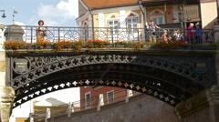 Close up view of Liars Bridge, Sibiu Stock Footage