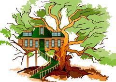 Tree house Stock Illustration