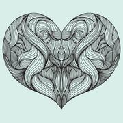 Shape of heart Stock Illustration