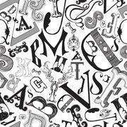 Letters in a chaotic mess Stock Illustration