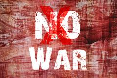 Text for No War on grunge background - stock illustration